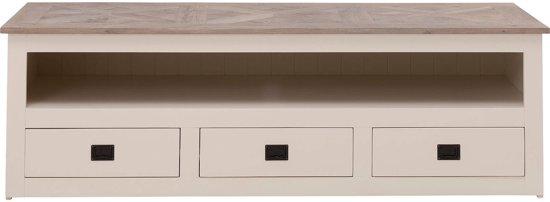 bol com   Goossens Tv meubel Velante, tv dressoir 3 laden 1 groot open vak 62 cm diep