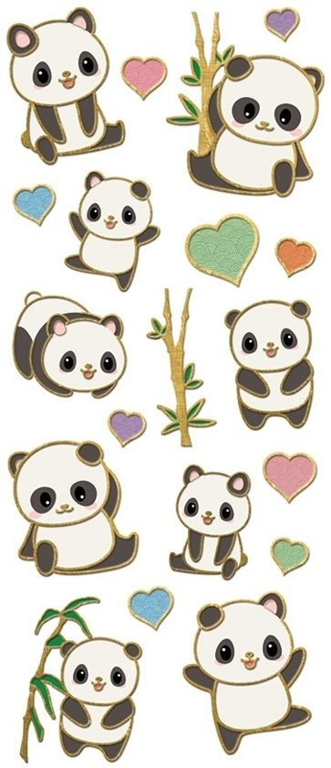 Paper House Stickers Pandas