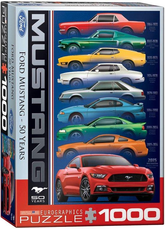 ford mustang 50 jaar bol.| Eurographics legpuzzel   50 jaar Ford Mustang   1000  ford mustang 50 jaar