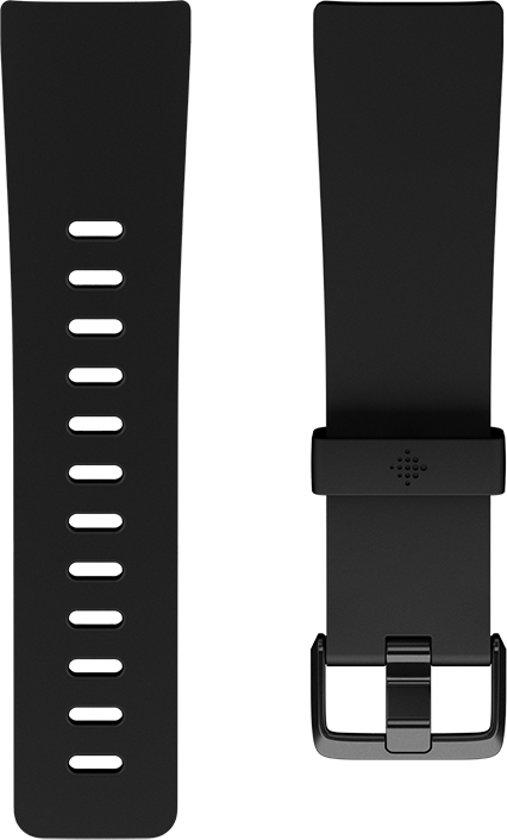 Fitbit Versa (Lite) siliconen bandje - Klassiek zwart - Small