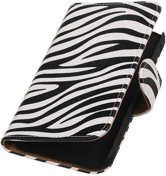 Samsung Galaxy Xcover 3 G388F Wit   Zebra bookstyle / book case/ wallet case Hoes    WN™