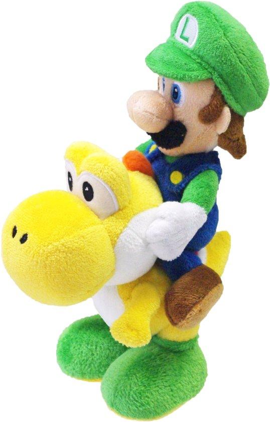 Super Mario Bros.: Luigi Riding Yoshi 20 cm Knuffel