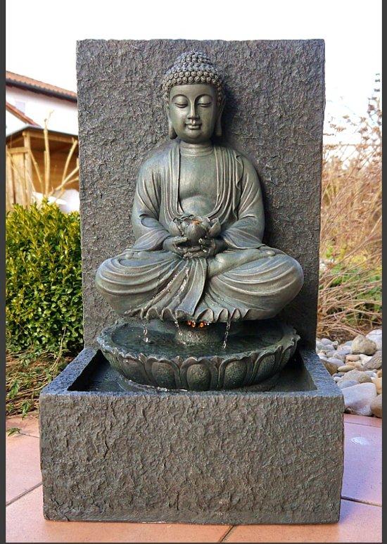 Boeddhabeeld Met Fontein.Bol Com Boeddha Buddha Fontein Waterpartij 65 Cm