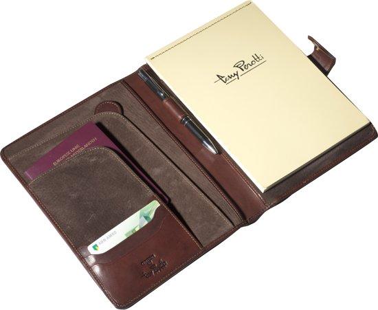 Tablet Vak Voor A5 Tony PerottiSchrijfmap Donkerbruin Met rtshQCd