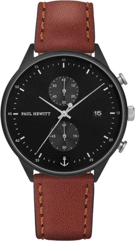 Paul Hewitt Chrono Line Black Sunray Horloge