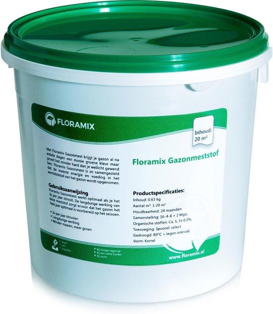 Floramix Gazonmest  - ORGANISCH - voor 20m²