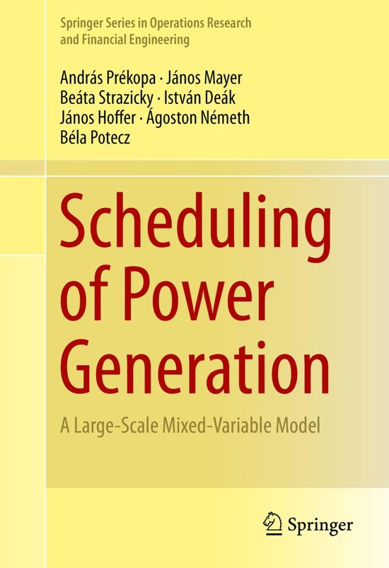 the operation of power generation scheduling Storage of operation schedules and results the generation scheduling and control consist of - maintenance of quality of power delivered generation scheduling.