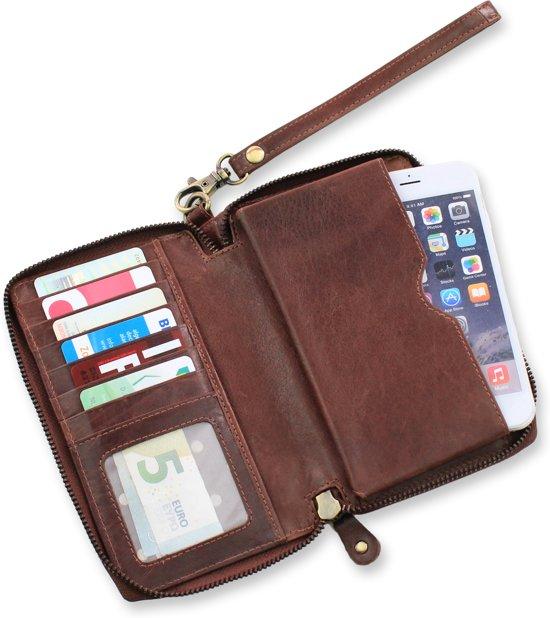 49904942ead bol.com | Safekeepers - Leren Portemonnee vakjes en ruimte voor mobiel