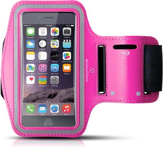 #DoYourFitness - Sportarmband - »RunnerGirl« - Hardlooparmband voor telefoon - MEDIUM 50 cm - Pink
