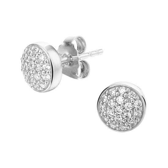 Selected Jewels 925 Sterling Zilveren Fenna Oorstekers  - Zilver