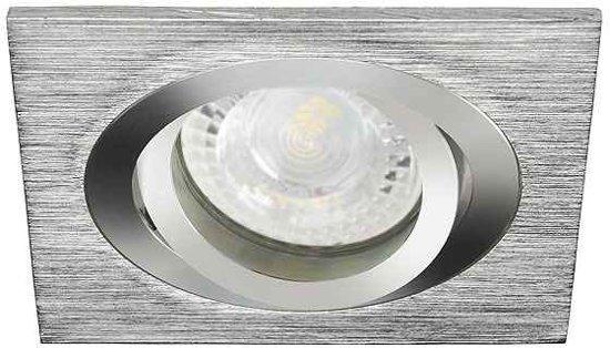 Eco-LED - Inbouwspot - Vierkant - Kantelbaar - Brushed Aluminium