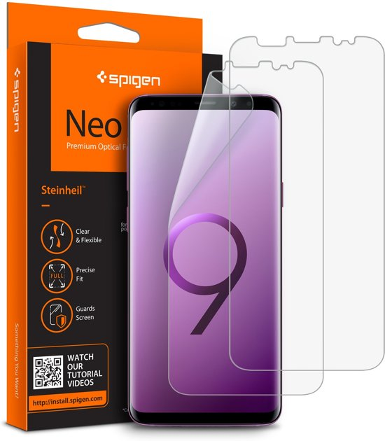 Samsung Galaxy S9 Screenprotector Spigen Neo Flex HD (2 Pack)