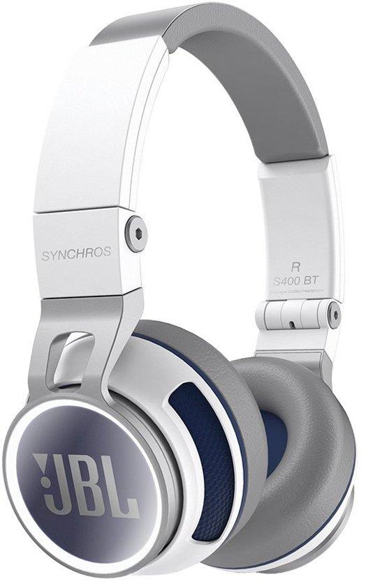 jbl koptelefoon. jbl synchros s400bt - on-ear koptelefoon wit / blauw jbl