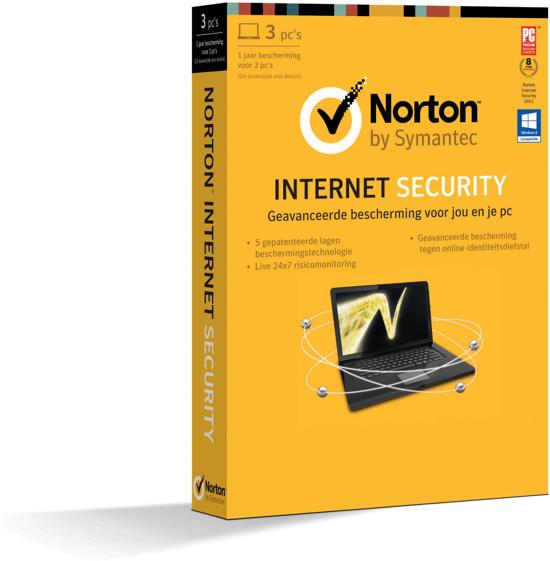 Symantec Norton Internet Security 2013 - End Of Year Promo - Nederlands / 3 Gebruikers / Win