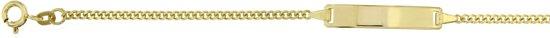 Lilly - 8 karaat goudkleurigen plaatarmband Rechthoekige plaat - Gourmet
