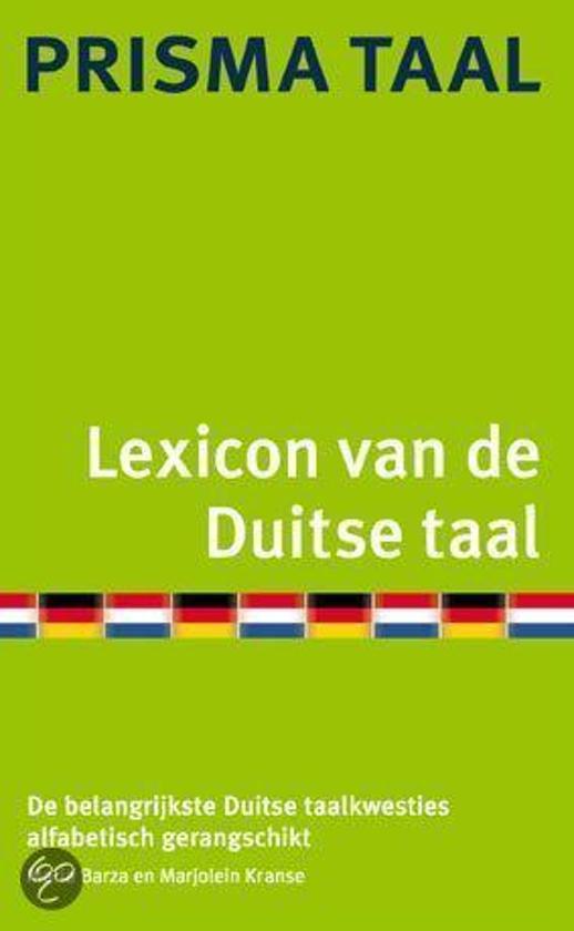Prisma Lexicon Van De Duitse Taal - Maria Barza |