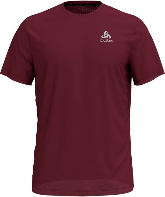 Odlo Bl Top Crew Neck S/S Millennium Linencool Sportshirt Heren - Zinfandel