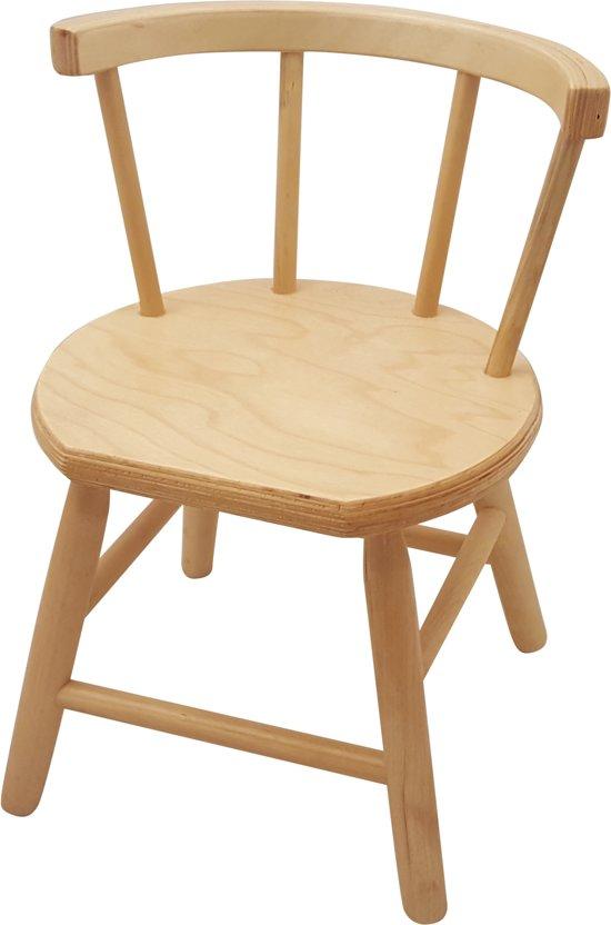 Bekend bol.com | Playwood - Houten stoel voor kinderen met spijlen blank  &EE02