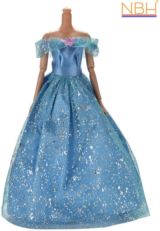 Glitter Trouwjurk.Bol Com Blauwe Prinsessenjurk Of Trouwjurk Met Glitters Voor De