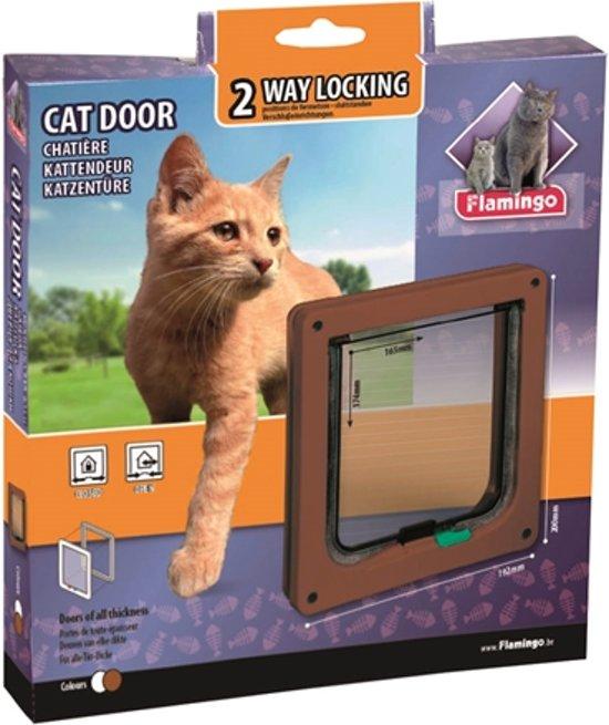 Cat door 2-ways brown