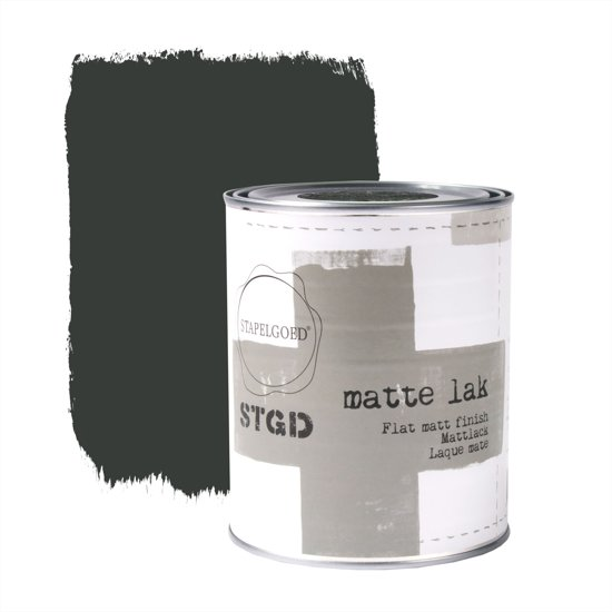 Stapelgoed - Matte Lak - After Dark - Zwart - 1L