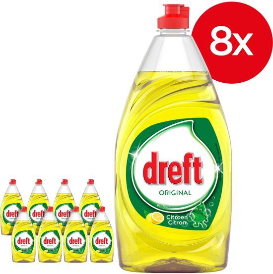 Dreft Orginal Citroen - Voordeelverpakking 8x820ml - Afwasmiddel