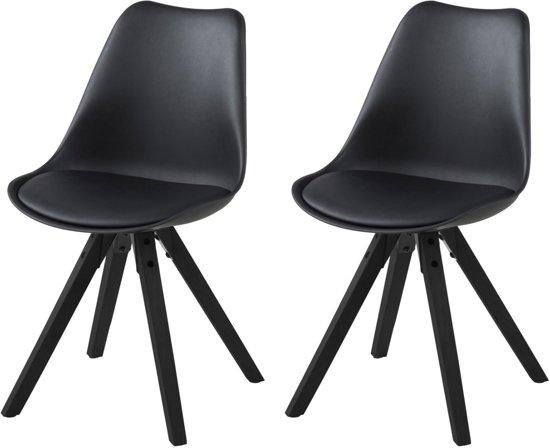 24designs stoel dex zwarte zitting zwarte for Stoel houten poten