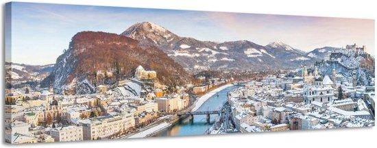 Salzburg - Canvas Schilderij Panorama 118 x 36 cm