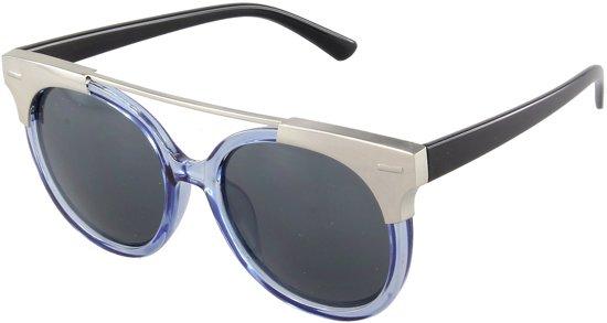 5d1598d37451f1 Zonnebril met blauw transparant montuur