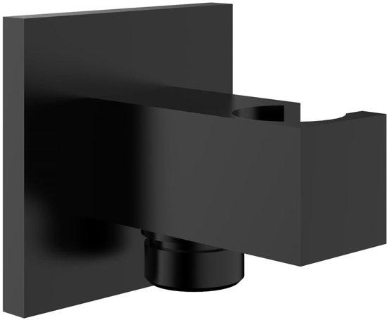 Rombo doucheaansluiting met opsteek zwart