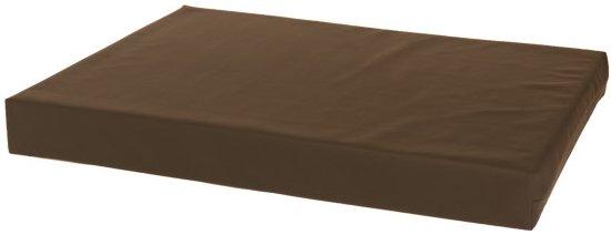 Losse hoes matras/orthopedisch hondenbed leatherlook bruin maat 85x55x10 cm