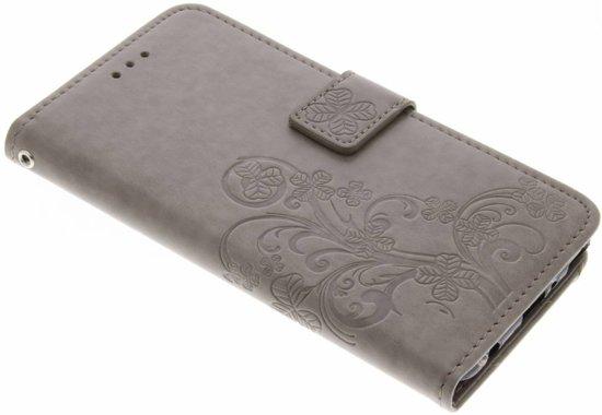 Fleurs De Trèfle Noir Case Booktype Pour Huawei P10 q7KWeorA