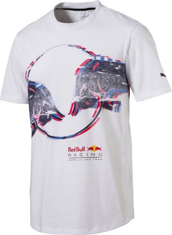 PUMA Red Bull Racing Double Bull Tee Shirt Heren - White