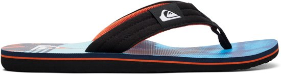 Layback Molokai blue Maat Slippers orange 43 Quiksilver Heren Black C4wn5