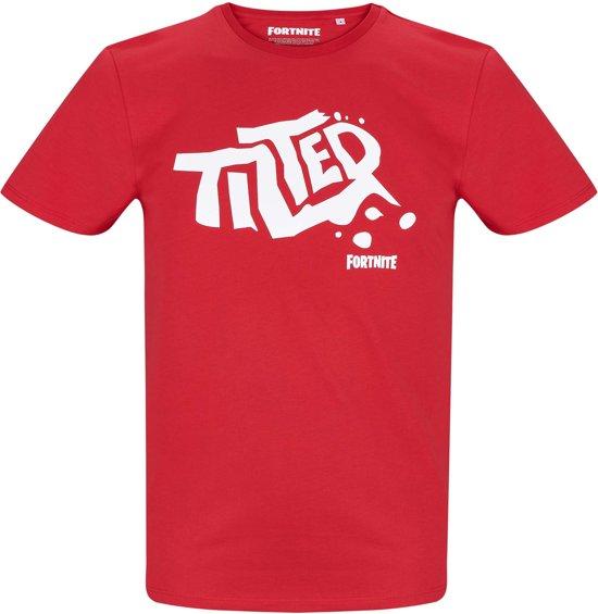 Fortnite T-shirt met korte mouw - rood - Maat S