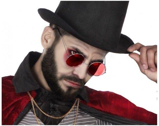 Halloween/horror rode Dracula bril voor volwassenen - Halloween verkleed accessoire