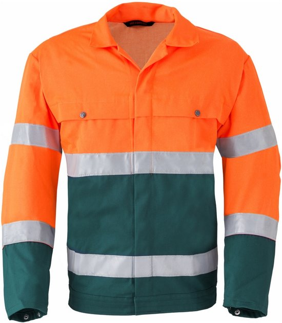 Havep sig.jack maat 56 drukknoop 5105 groen/oranje