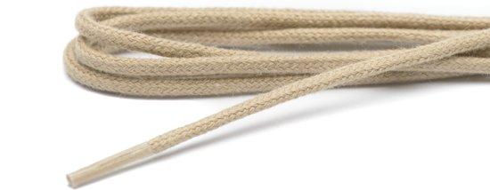 Schoenveters beige dun rond 70 cm 4-6 gaatjes