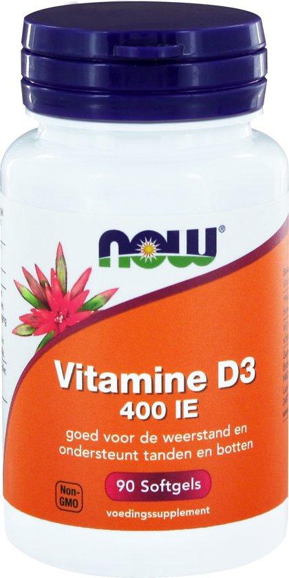 Now foods Vitamine D3 - 400 ie