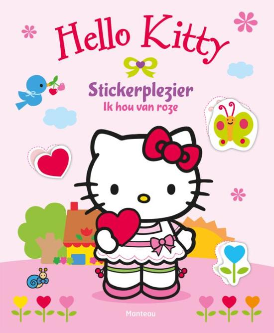 Boek cover Hello Kitty - Stickerplezier Ik hou van roze van  (Paperback)