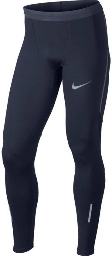 Nike Power Tech Tight - Broeken  - blauw donker - XL