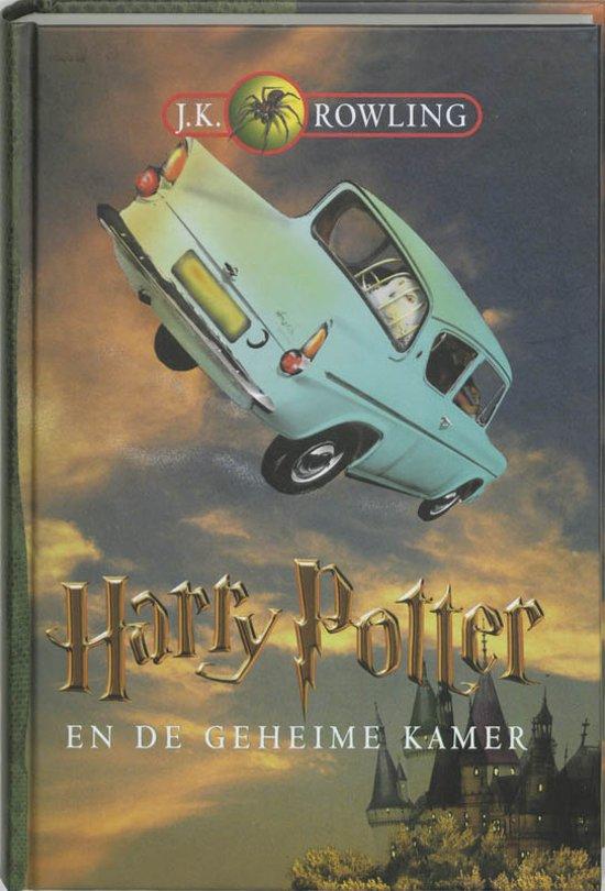 Cover van het boek 'Harry Potter en de geheime kamer' van J.K. Rowling