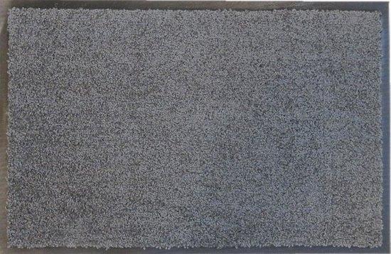 Droogloopmat op maat grijs 88cm ecologisch - 88 x 350 cm