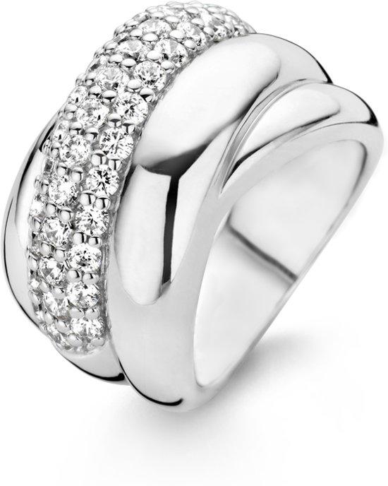 TI SENTO Milano Ring 1642ZI - Maat 60 (19 mm) - Gerhodineerd Sterling Zilver
