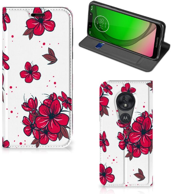 Motorola Moto G7 Play Smart Cover Blossom Rood