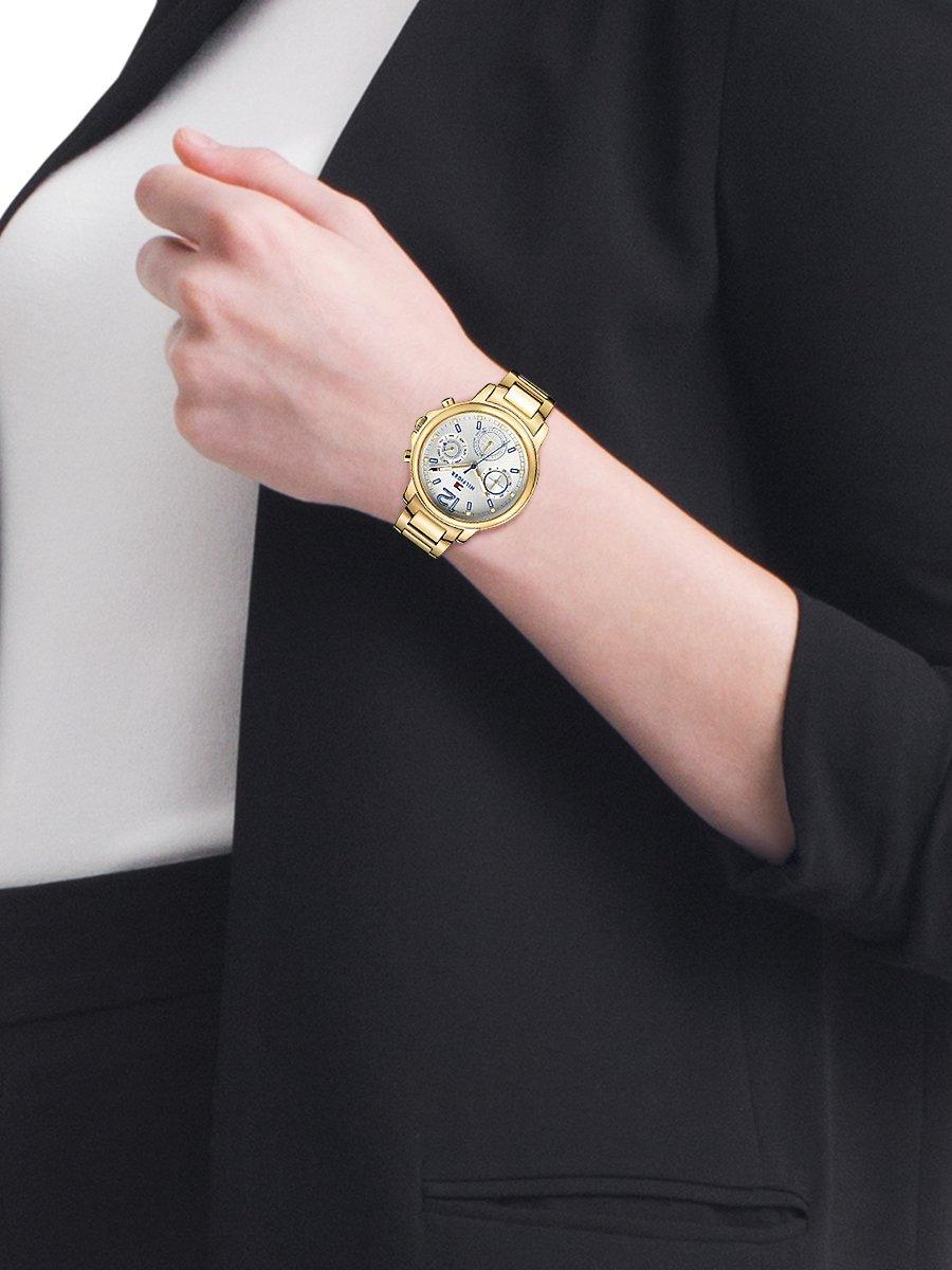 Tommy Hilfiger TH1781742 horloge dames goud edelstaal doubl