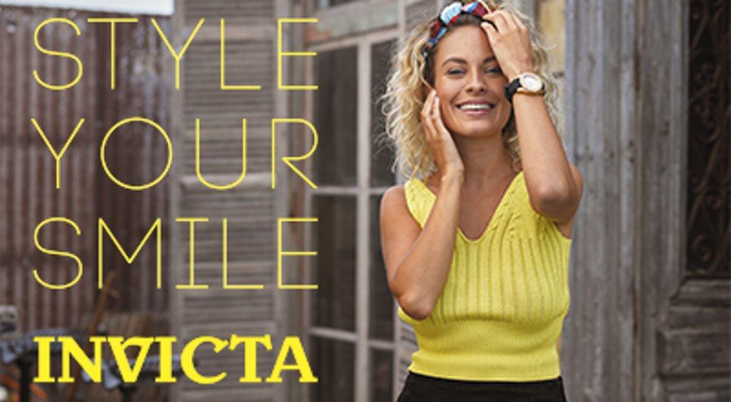 Style your smile met Invicta!