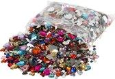 Strasstenen, d: 6+10+14 mm, kleuren assorti, harten, 2520 assorti