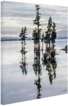 Lake Brunner Nieuw-Zeeland Canvas 60x80 cm - Foto print op Canvas schilderij (Wanddecoratie)