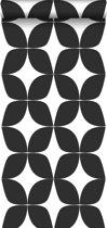ESTAhome behang grafisch motief zwart wit - 139101 - 0.53 x 10.05 m